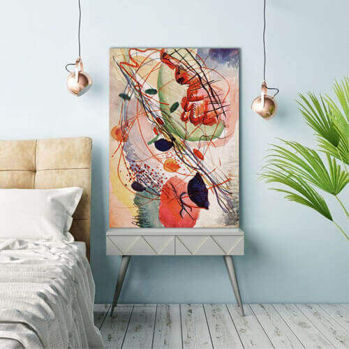 abstract art for bedroom, Wassily Kandinsky  | FREE USA SHIPPING | WallArt.Biz