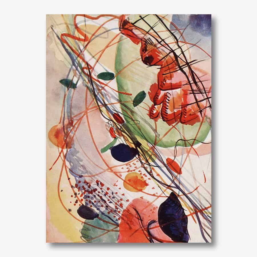 Aquarell abstract art by Wassily Kandinsky  | FREE USA SHIPPING | www.wallArt.Biz