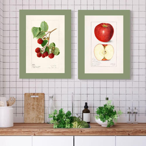 Vintage Watercolor canvas Art | FREE USA SHIPPING | www.WallArt.Biz
