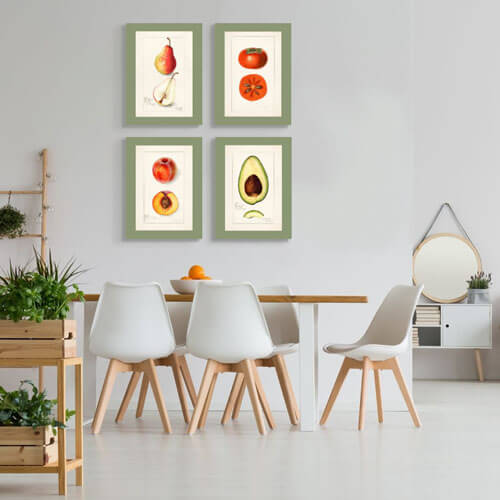 Vintage Watercolor dining room canvas Art | FREE USA SHIPPING | WallArt.Biz