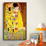 Gustav Klimt's the Kiss artwork | free US Shipping | ww.wallart.biz