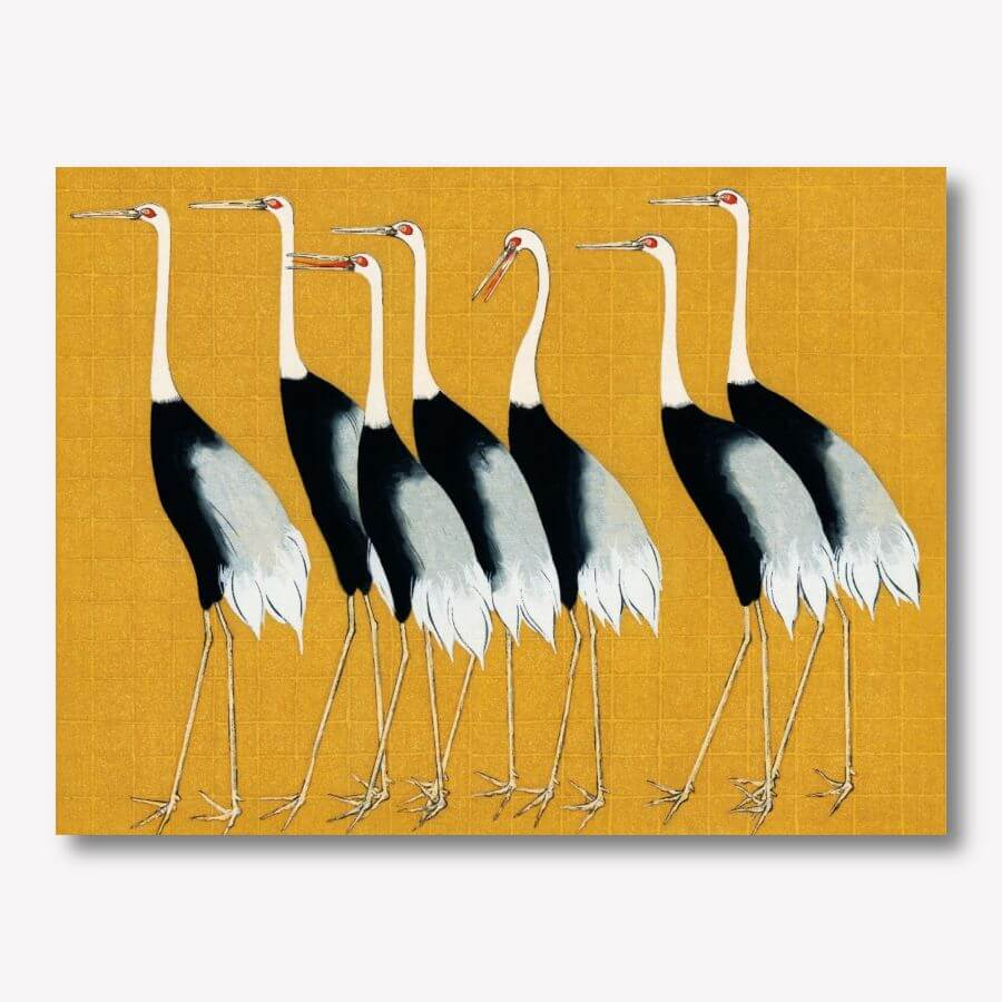 Japanese red crown crane by Ogata Korin | FREE USA SHIPPING | www.wallArt.Biz