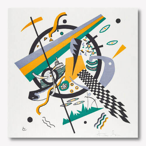 Wassily Kandinsky abstract artwork - Kleine Welten IV  | FREE USA SHIPPING | www.wallArt.Biz