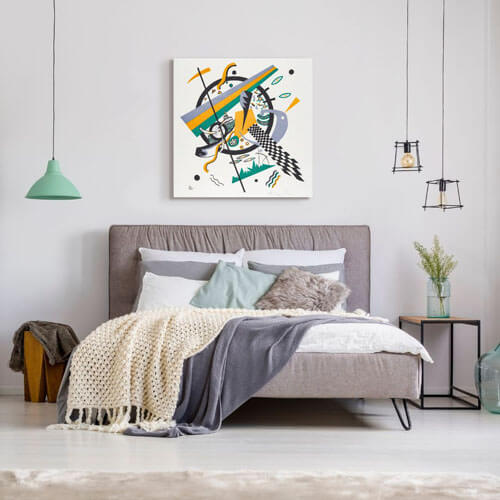 Wassily Kandinsky abstract bedroom artwork - Kleine Welten IV  | FREE USA SHIPPING | www.wallArt.Biz
