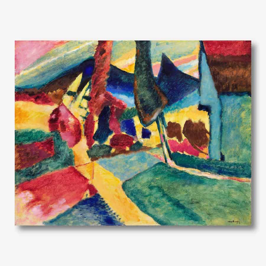 Wassily Kandinsky - Landscape with Two Poplars | FREE USA SHIPPING | WallArt.Biz
