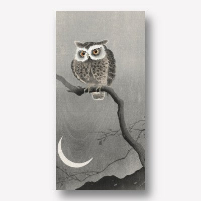Ohara Koson - Long-eared owl on bare tree branch | Free USA Shipping| www.wallart.biz