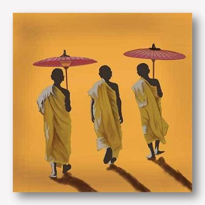 monks canvas wall art - free usa shipping - www.wallart.biz