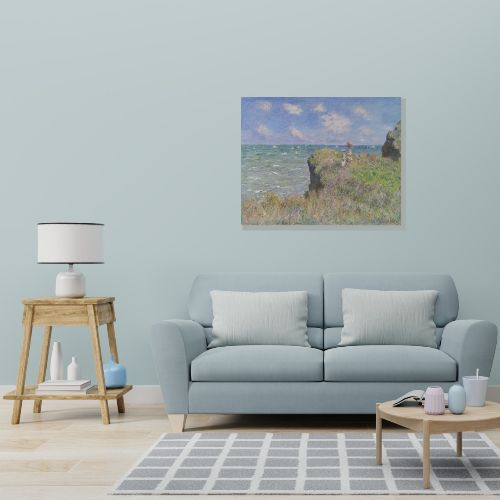 Claude Monet - Cliff Walk at Pourville Wall Art | FREE USA SHIPPING | WallArt.Biz