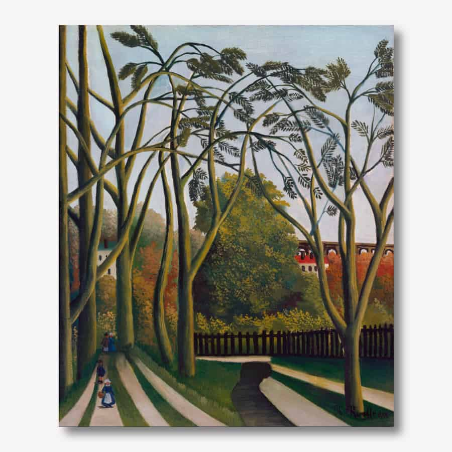 Henri Rousseau Henri Rousseau Painting- The Banks of the Bièvre near Bicêtre  | FREE USA SHIPPING | www.allArt.Biz