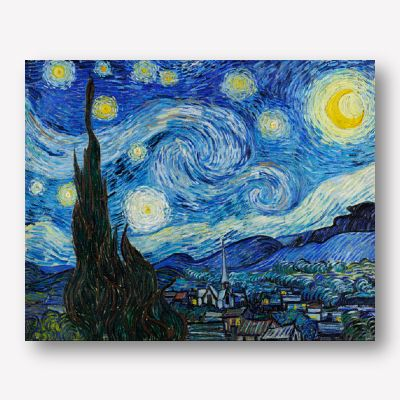 Van Gogh - The Starry Night | Free USA Shipping | Wallart.biz