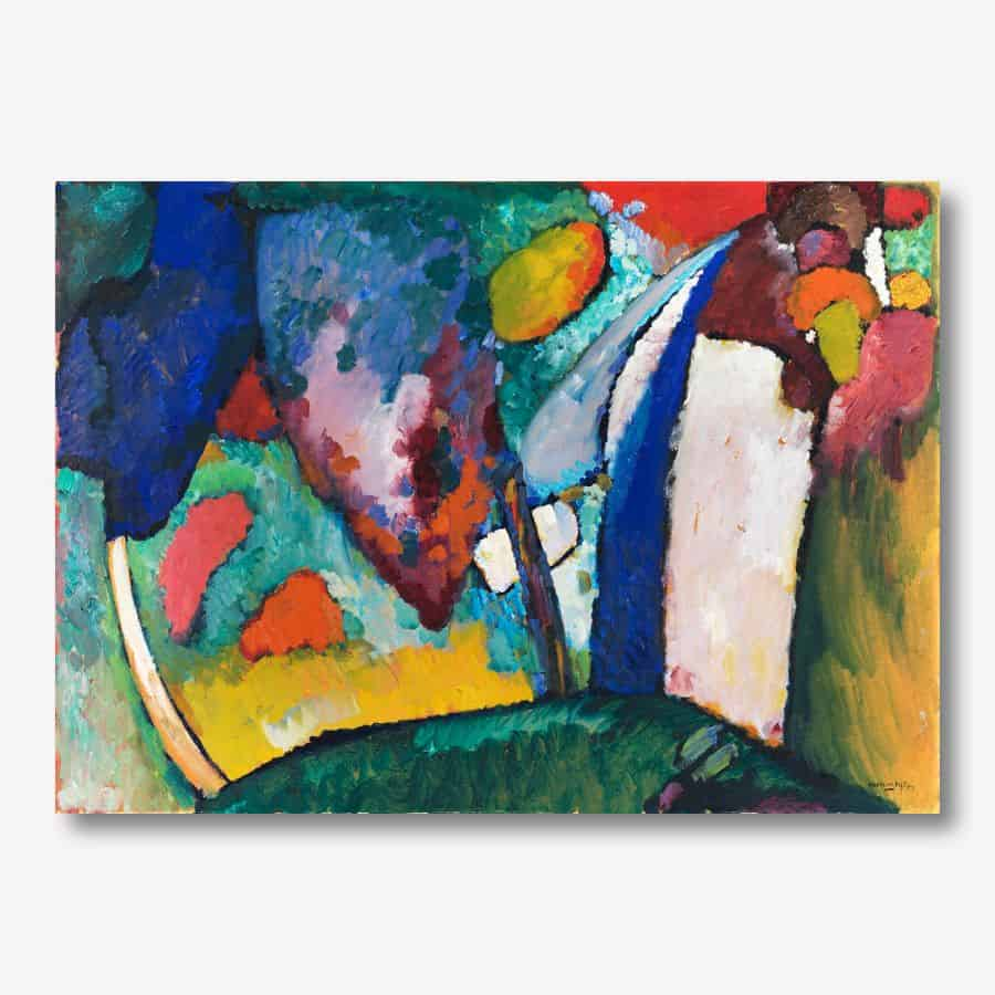 Wassily Kandinsky - The Waterfall  canvas print | FREE USA SHIPPING | WallArt.Biz