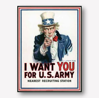 ww1 propaganda poster | Uncle Sam Army Poster | Free USA Shipping
