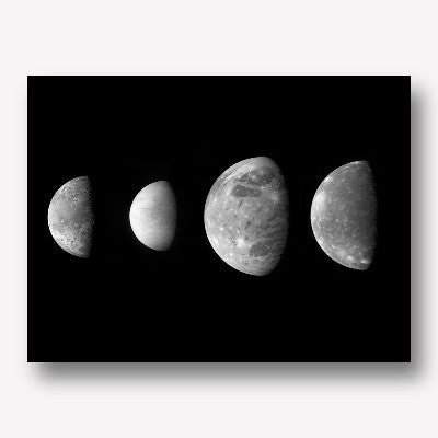 Jupiter's moons - free us shipping - www.wallart.biz