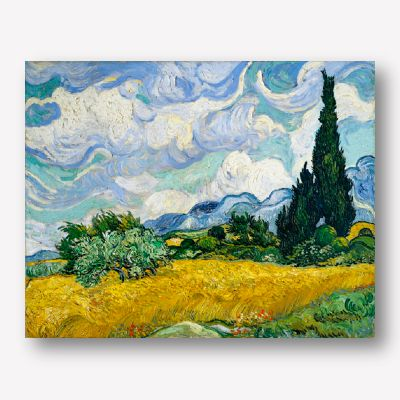 Van Gogh - Wheat Field with Cypresses | Free USA Shipping | Wallart.biz