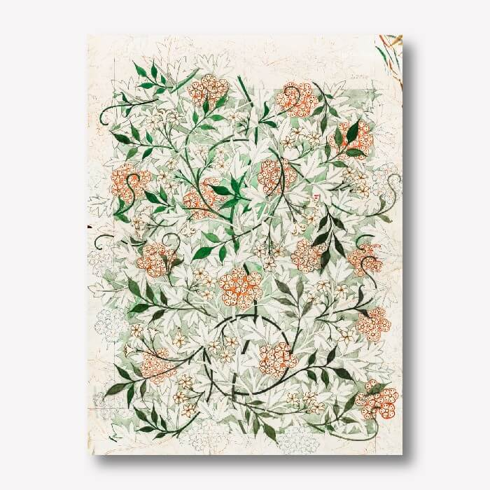 William Morris - Jasmine Wall Decor | FREE USA SHIPPING | WallArt.Biz