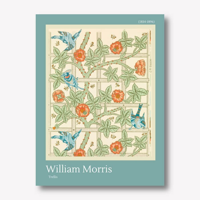 William Morris - Trellis Wall Art Canvas | FREE USA SHIPPING | WallArt.Biz