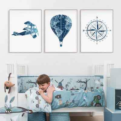 Adventure theme nursery wall art - free usa shipping - www.wallart.biz