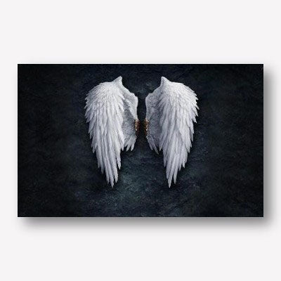 Large Angel wings wall décor - free USA shipping