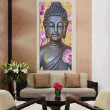 Buddha Wall Art above Sofa |www.wallart.biz | Free USA Shipping