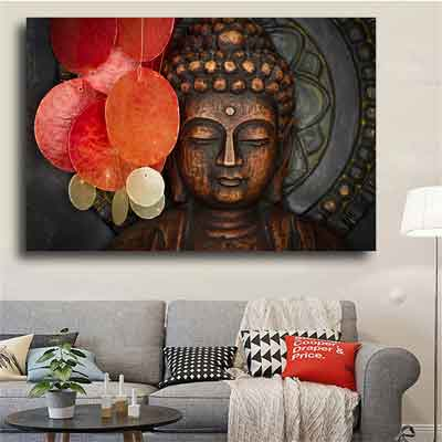 bronze buddha living room wall art | Free USA Shipping | WallArt.Biz