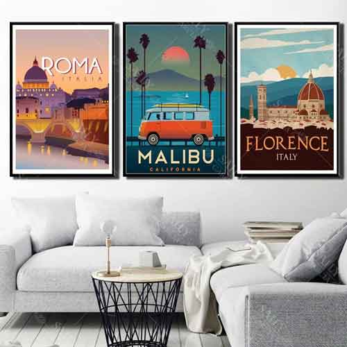 Cities canvas Posters | Free USA Shipping | www.wallart.biz