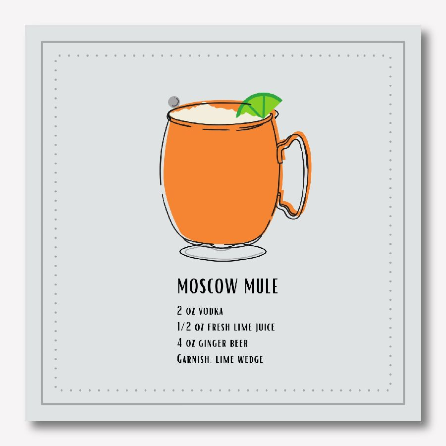 Moscow Mule Cocktail Canvas Print - Margarita Wall Art | FREE USA SHIPPING | www.WallArt.Biz