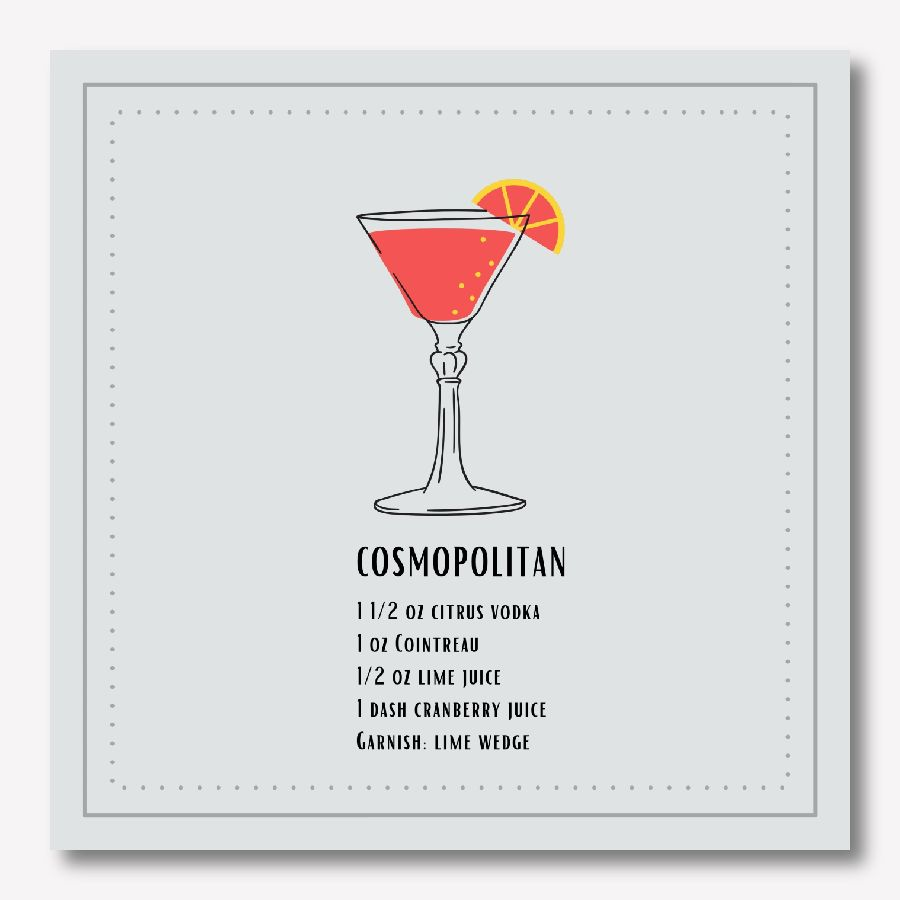 Cosmo Cocktail Wall Decor | FREE USA SHIPPING | www.WallArt.Biz
