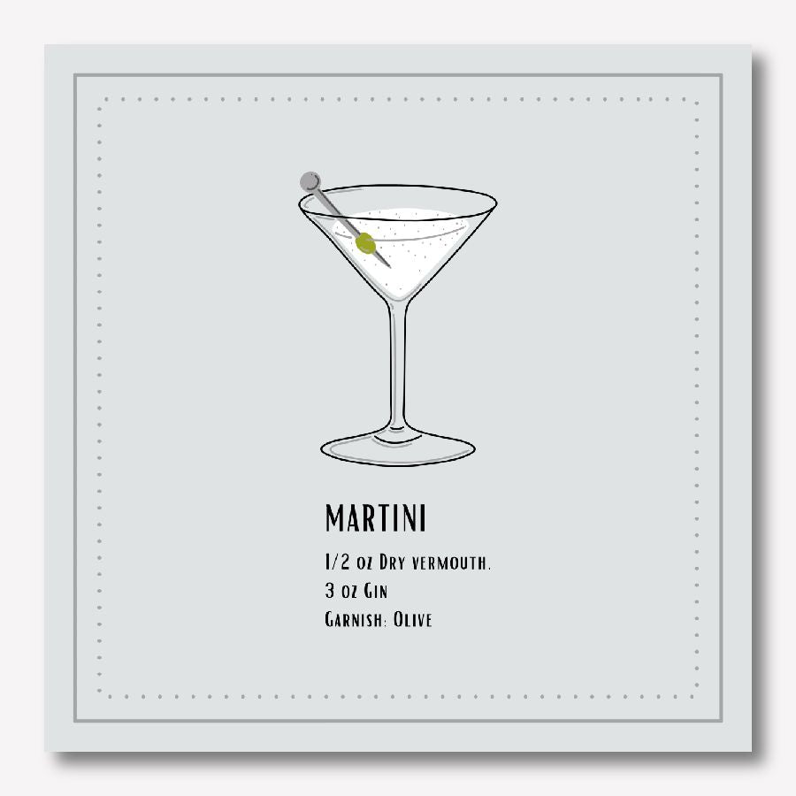 Martini Cocktails canvas painting  | FREE USA SHIPPING | www.WallArt.Biz