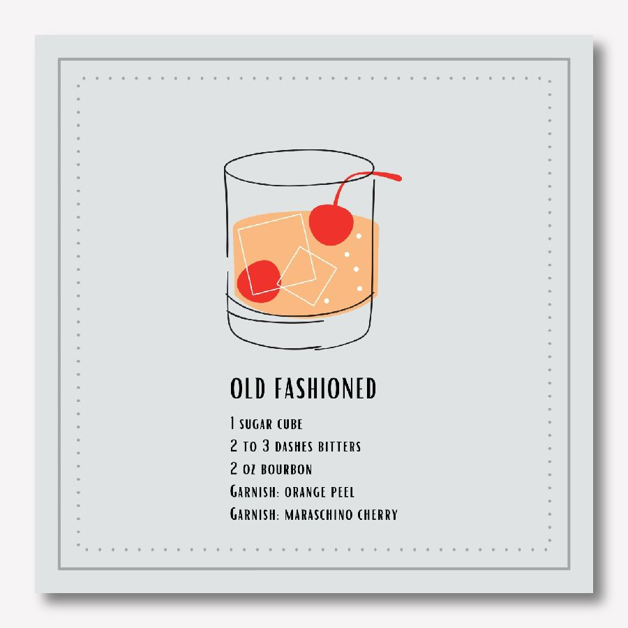 CockOld Fashioned drink Wall decor | FREE USA SHIPPING | www.wallArt.Biz