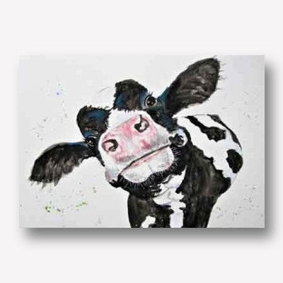 Funky Cow Canvas Artwork | Free USA Shipping | www.WallArt.Biz