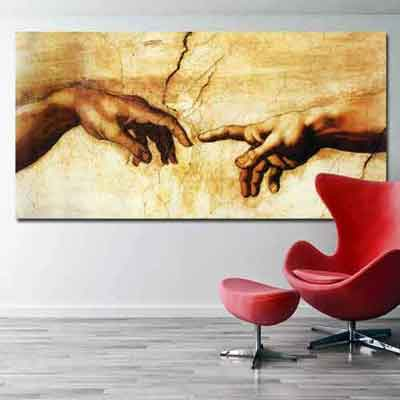 The Hand of God Canvas Print | Sistine Chapel Fresco | www.wallart.biz