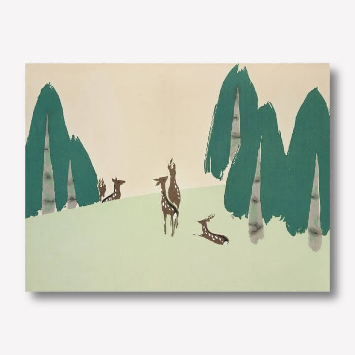 Deer by Kamisaka Sekka | FREE USA SHIPPING | WallArt.Biz