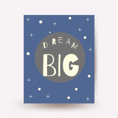 dream big wall art - free usa shipping -www.wallart.biz