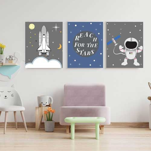 space rocket wall art - free usa shipping - www.wallart.biz