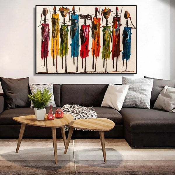 African Tribal Women Art | Free USA Shipping | www.WallArt.Biz