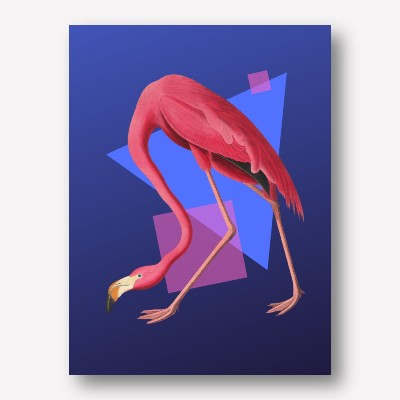 Flamingo geometric  | FREE USA SHIPPING | WWW.WALLART.BIZ