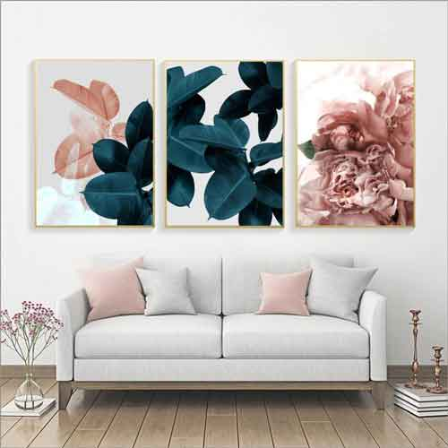 Living Room Floral Print Wall Art