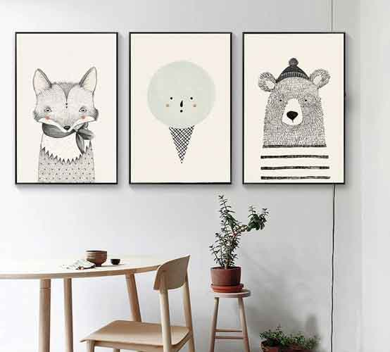 Forest animals nursery art | free usa shipping | www.wallart.biz