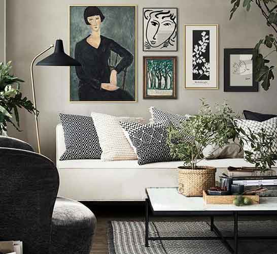 Gallery Wall Ideas Living Room |  Free USA Shipping | www.wallart.biz