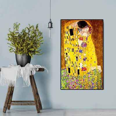 The Kiss Canvas Print| free US Shipping | ww.wallart.biz