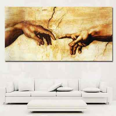 Creation of Adam Canvas Print | Sistine Chapel Fresco | www.wallart.biz