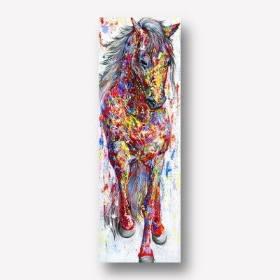 Colorful Horse Vertical Wall Art