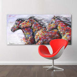 Colorful Horse Canvas Art | Free USA Shipping | www.wallart.biz