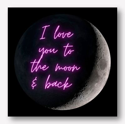 I love you to the moon & back | Free USA Shipping - www.wallart.biz