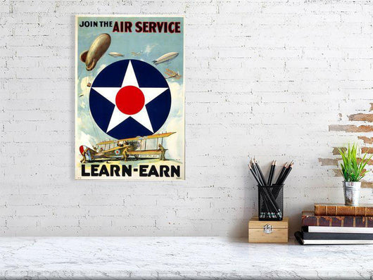 Join the Air Force Poster - Earn & Learn - lifestyle