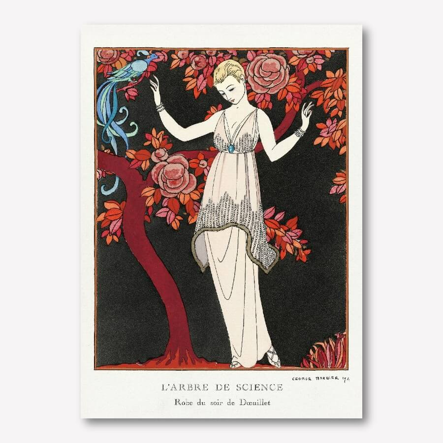 George Barbier's art deco prints L'Arbre de science| Free USA Shipping | Wallart.biz