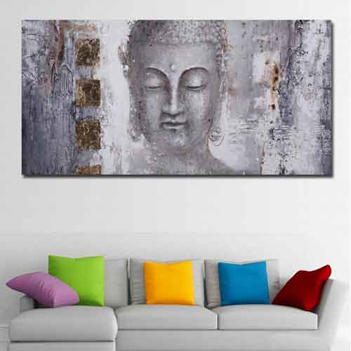 Buddha Canvas Print on Living Room Wall |www.wallart.biz
