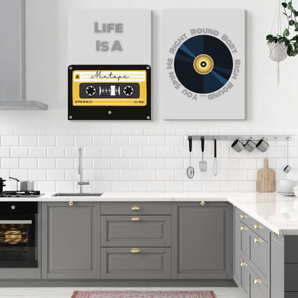 80s music-theme kitchen wall art | FREE USA SHIPPING | www.wallArt.Biz