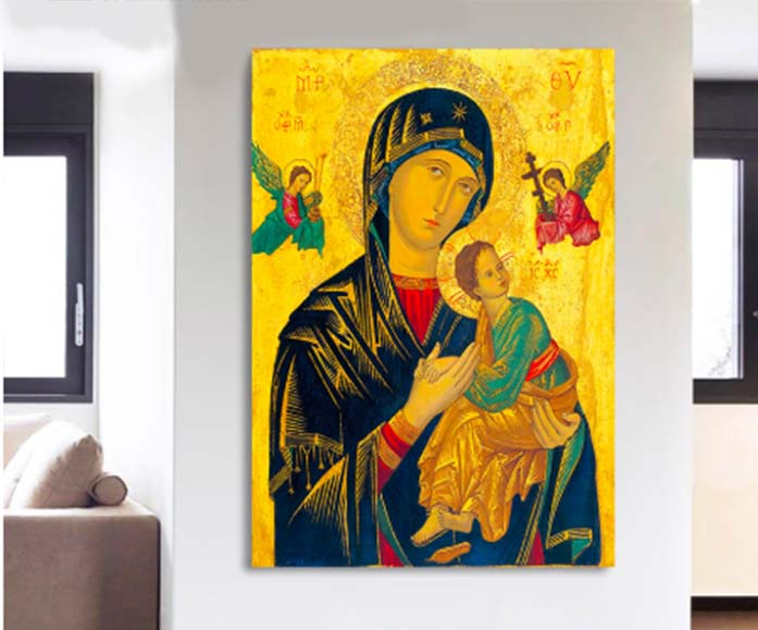 Virgin Mary Painting | Free US Shipping | www.wallart.biz