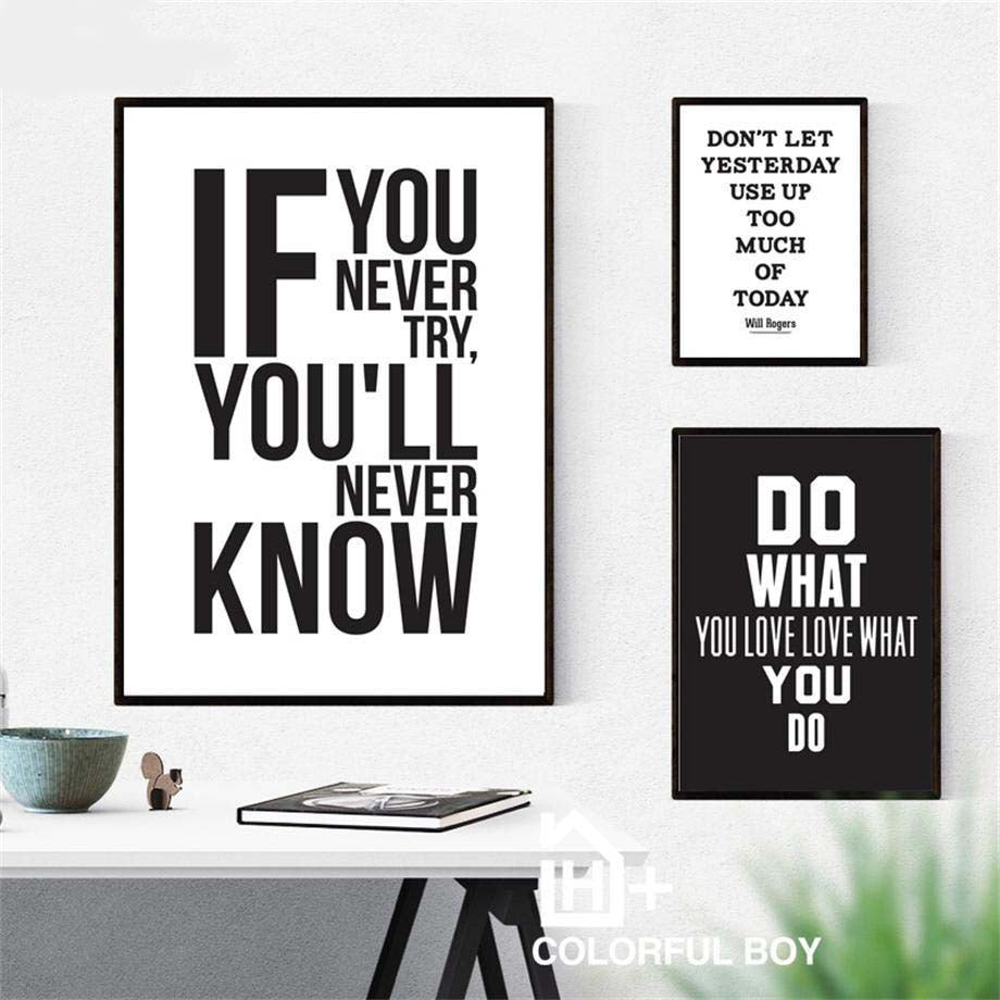 Motivational Quote Gallery Wall Art